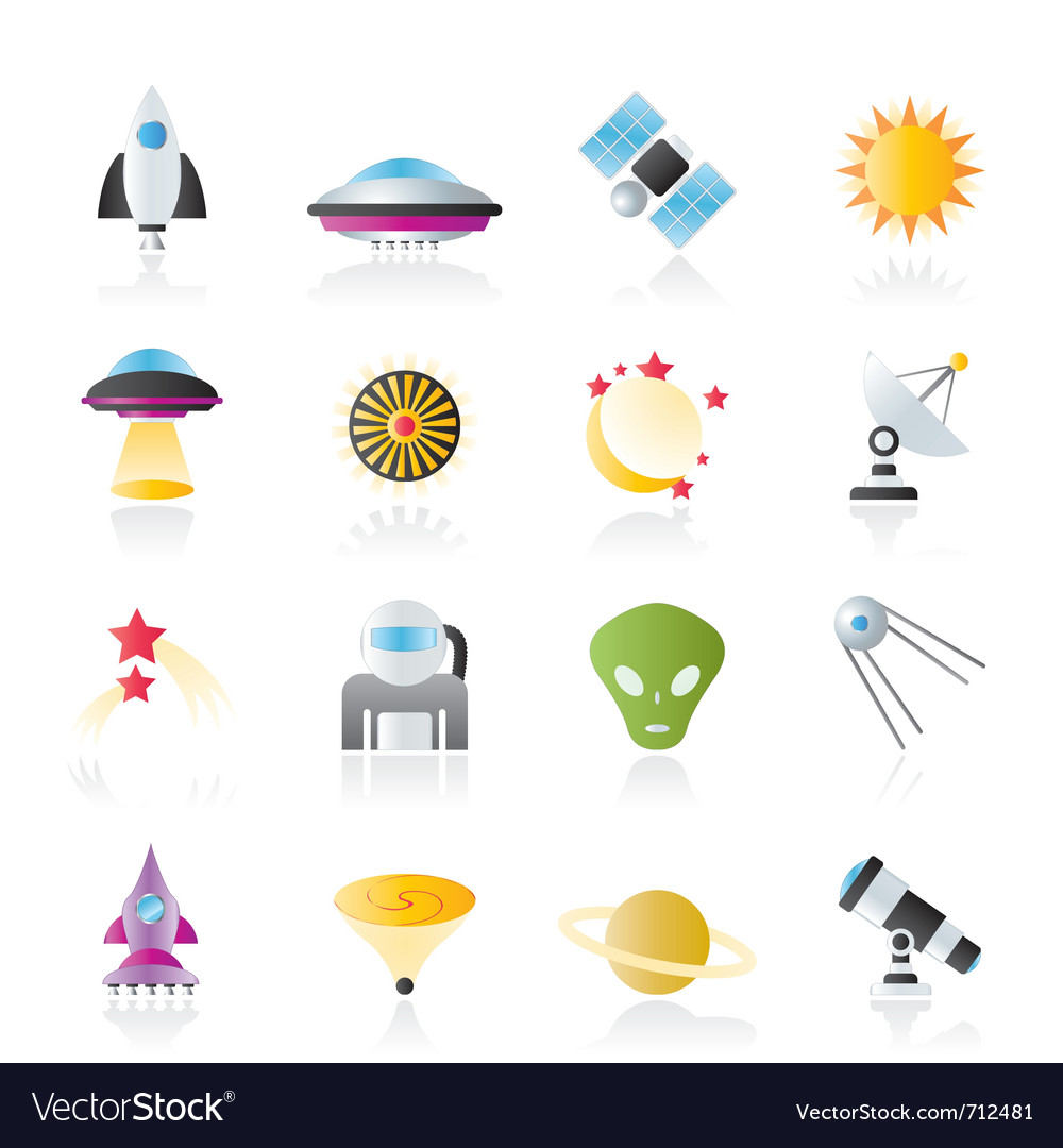 Space and universe icons vector | Price: 1 Credit (USD $1)