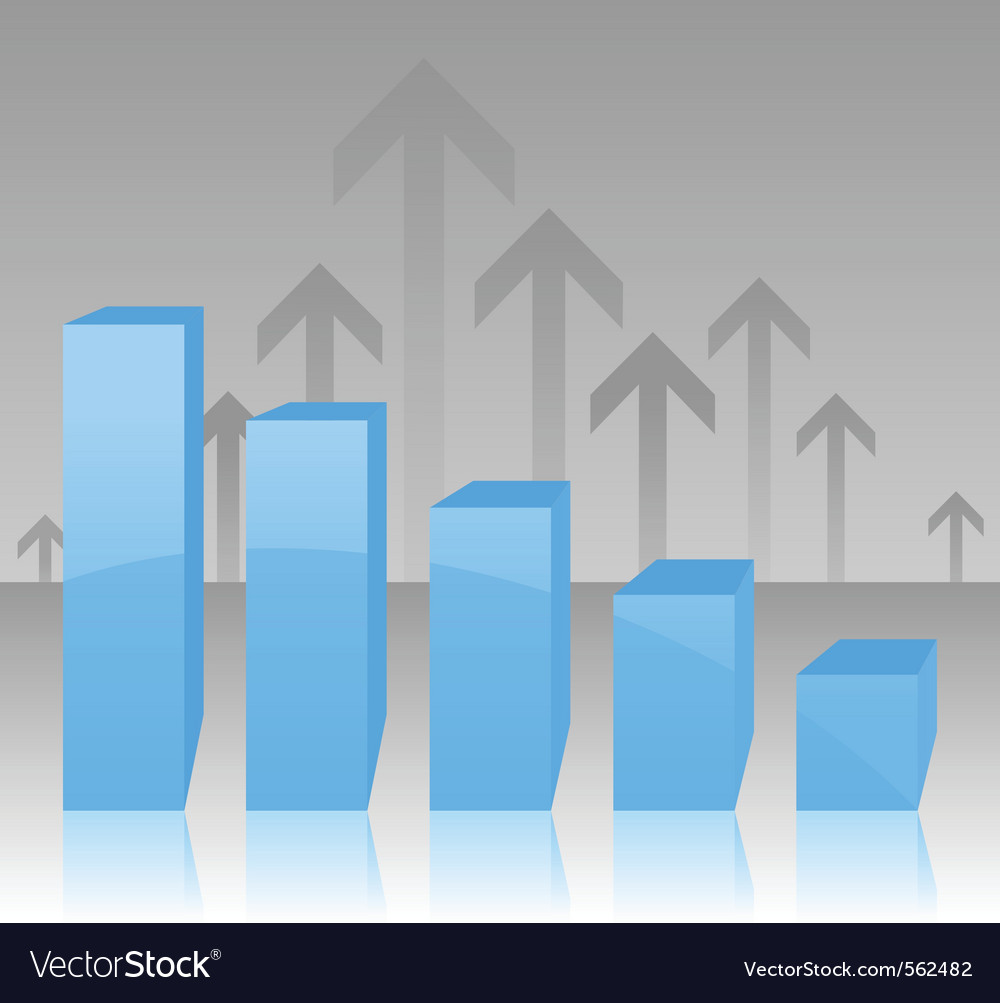 Bar and arrow graph vector | Price: 1 Credit (USD $1)
