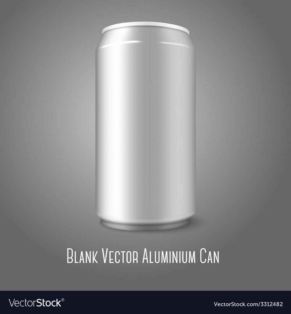 Blank aluminium can for different designs of beer vector | Price: 1 Credit (USD $1)