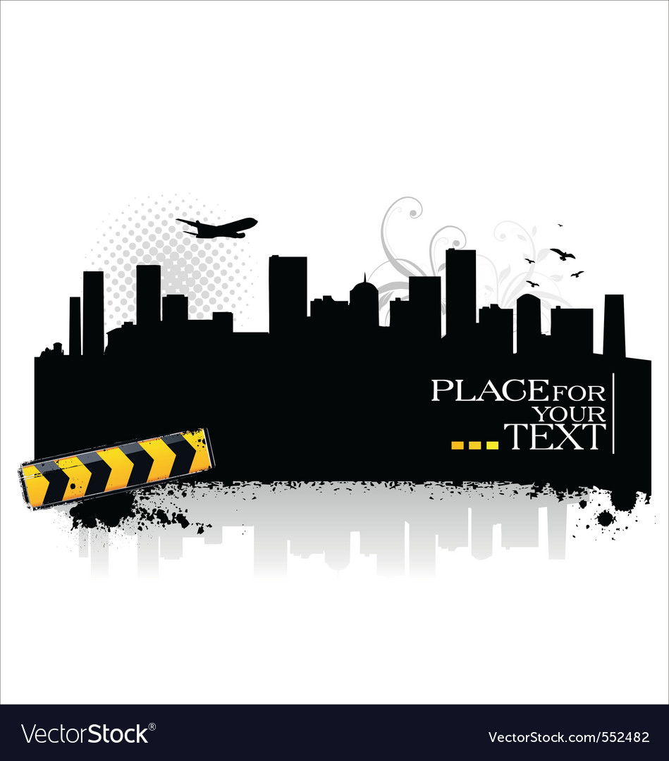 Cityscape silhouettes vector | Price: 1 Credit (USD $1)