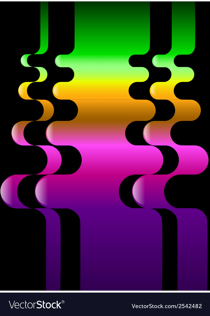 Color set from wavy colorful pattern that is vector | Price: 1 Credit (USD $1)