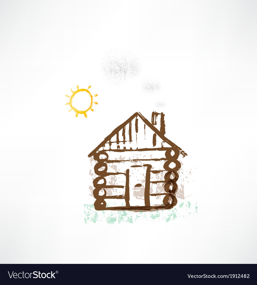 Cottage grunge icon vector | Price: 1 Credit (USD $1)
