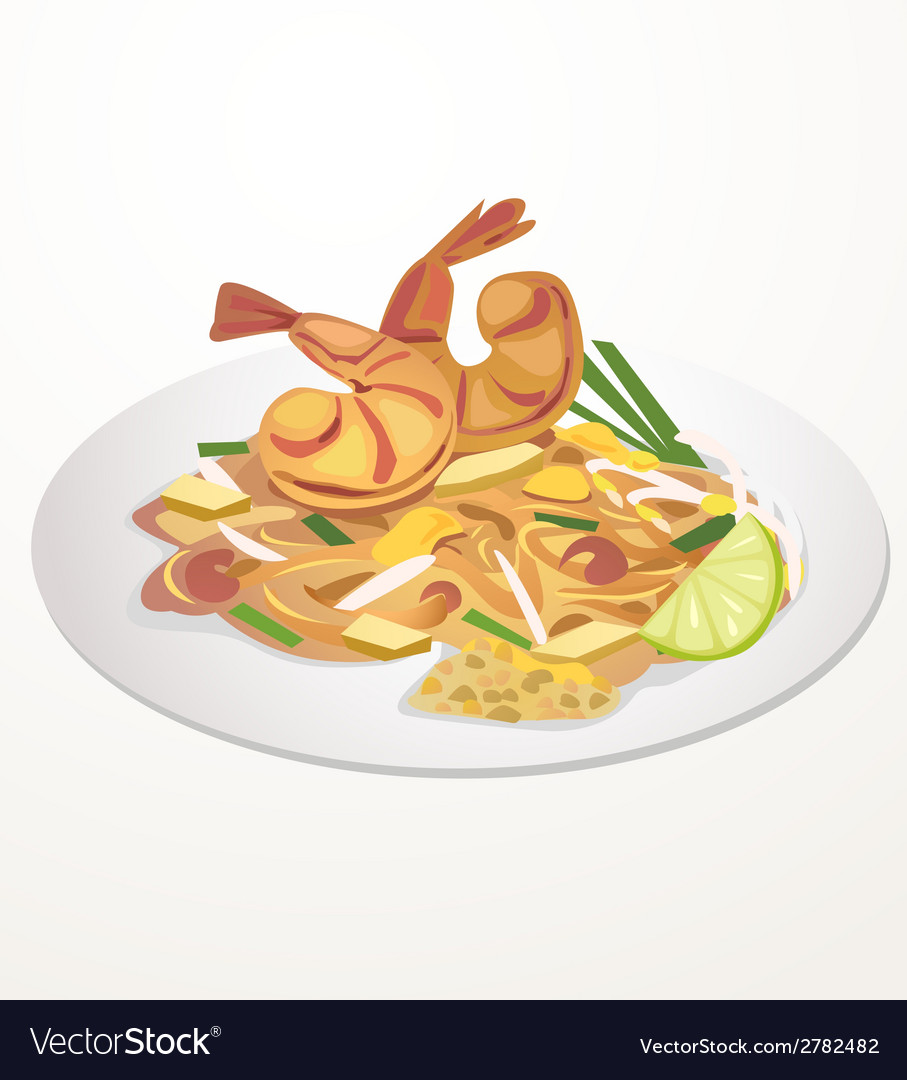 Pad thai vector | Price: 1 Credit (USD $1)
