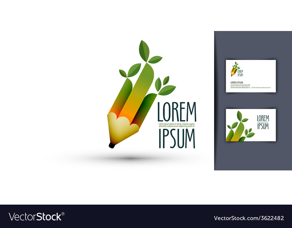 Pencil logo icon sign emblem template business vector | Price: 1 Credit (USD $1)