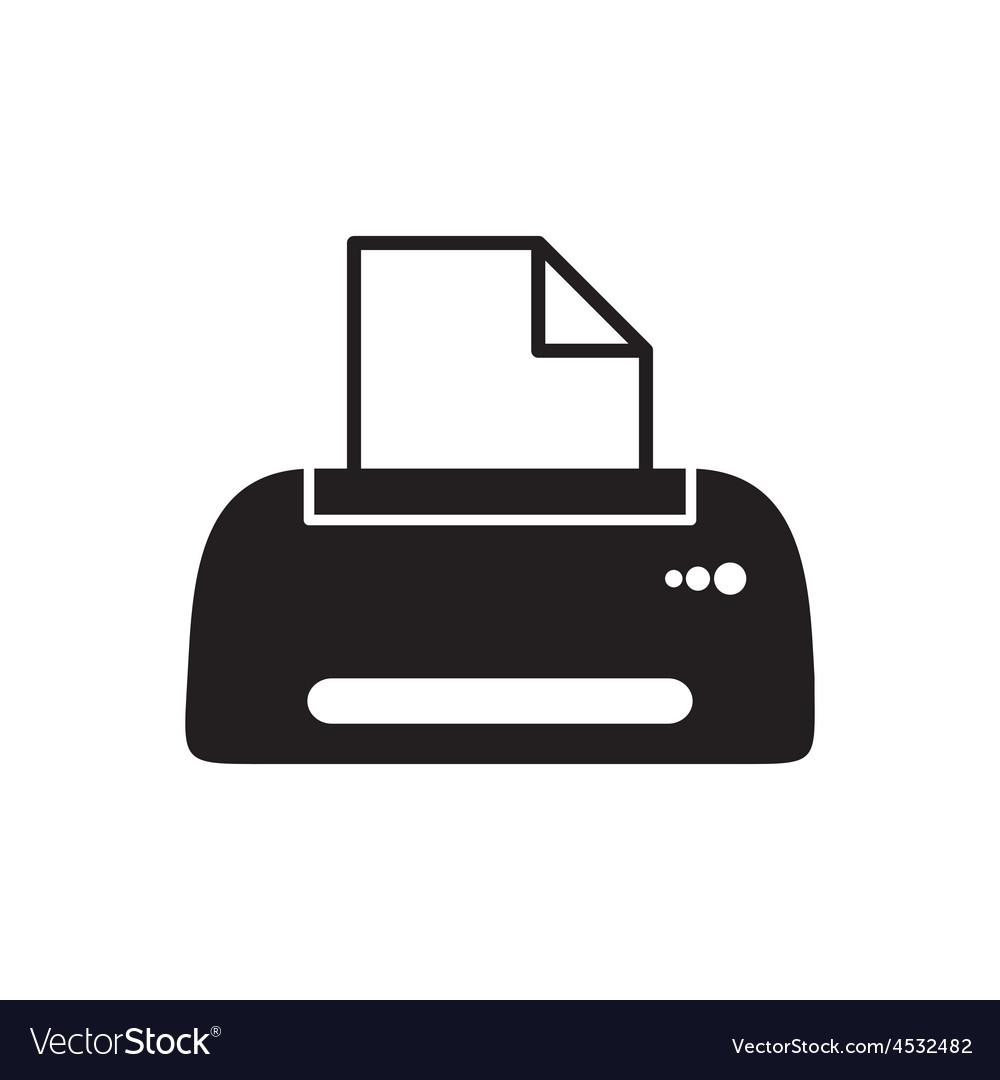 Printer icon vector   Price: 1 Credit (USD $1)