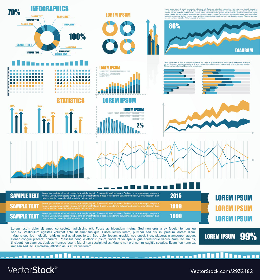 Set of infographic elements vector   Price: 1 Credit (USD $1)