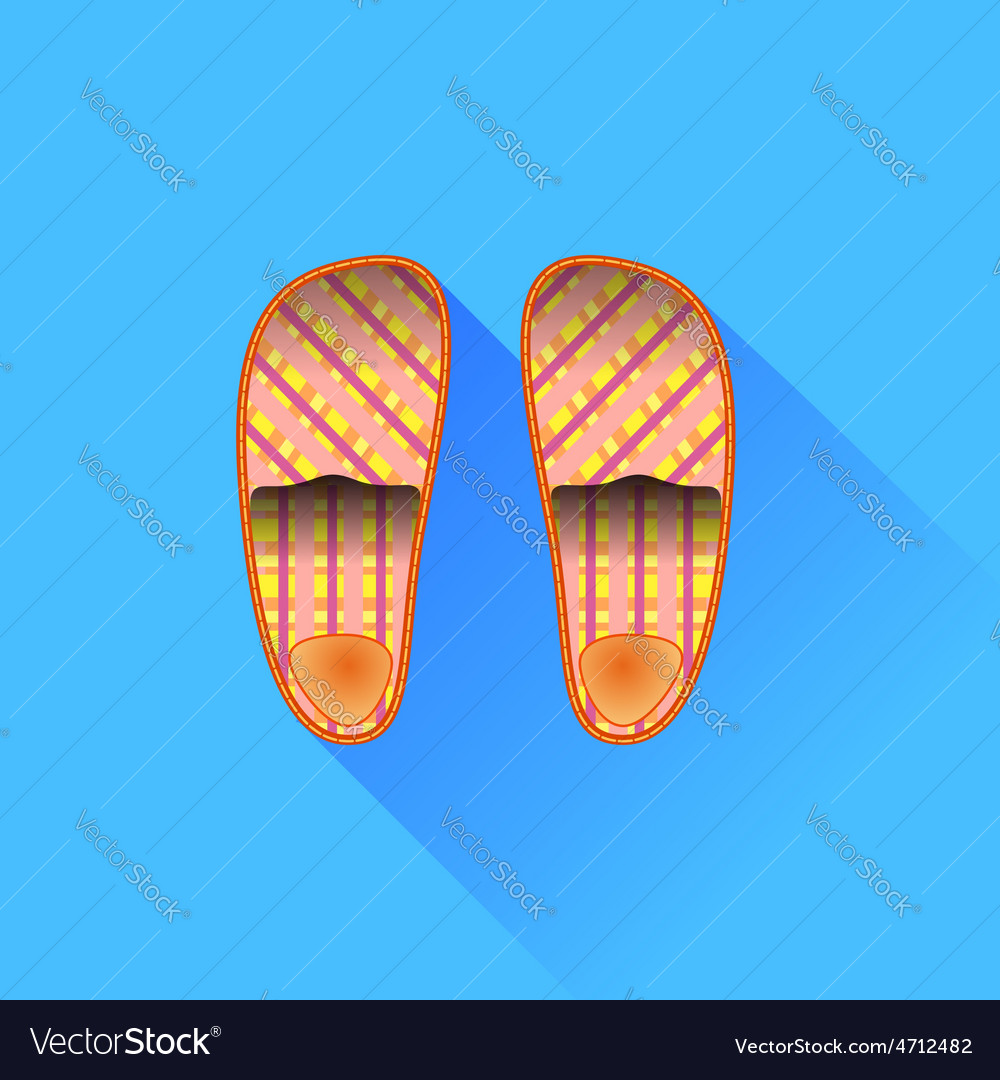 Slippers vector | Price: 1 Credit (USD $1)