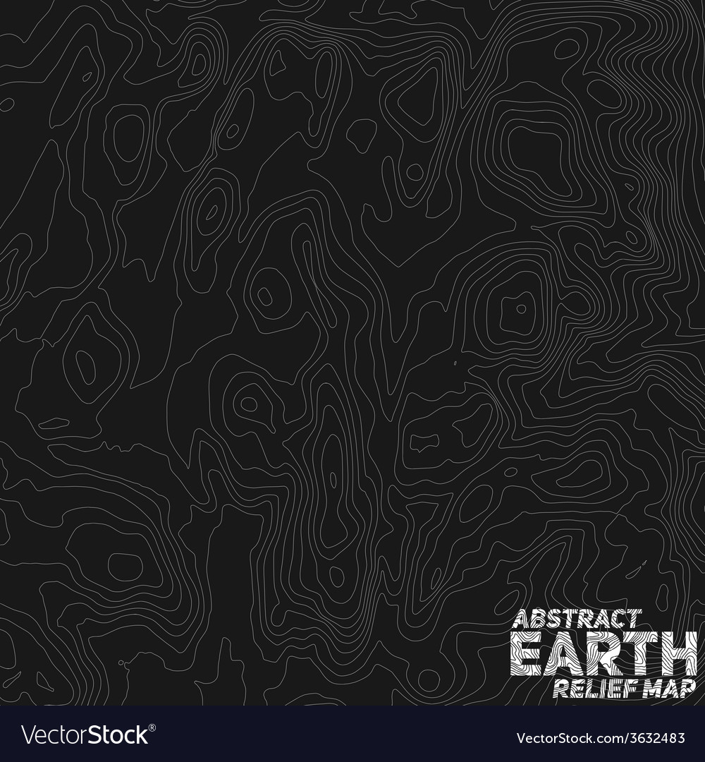 Abstract earth relief map vector | Price: 1 Credit (USD $1)