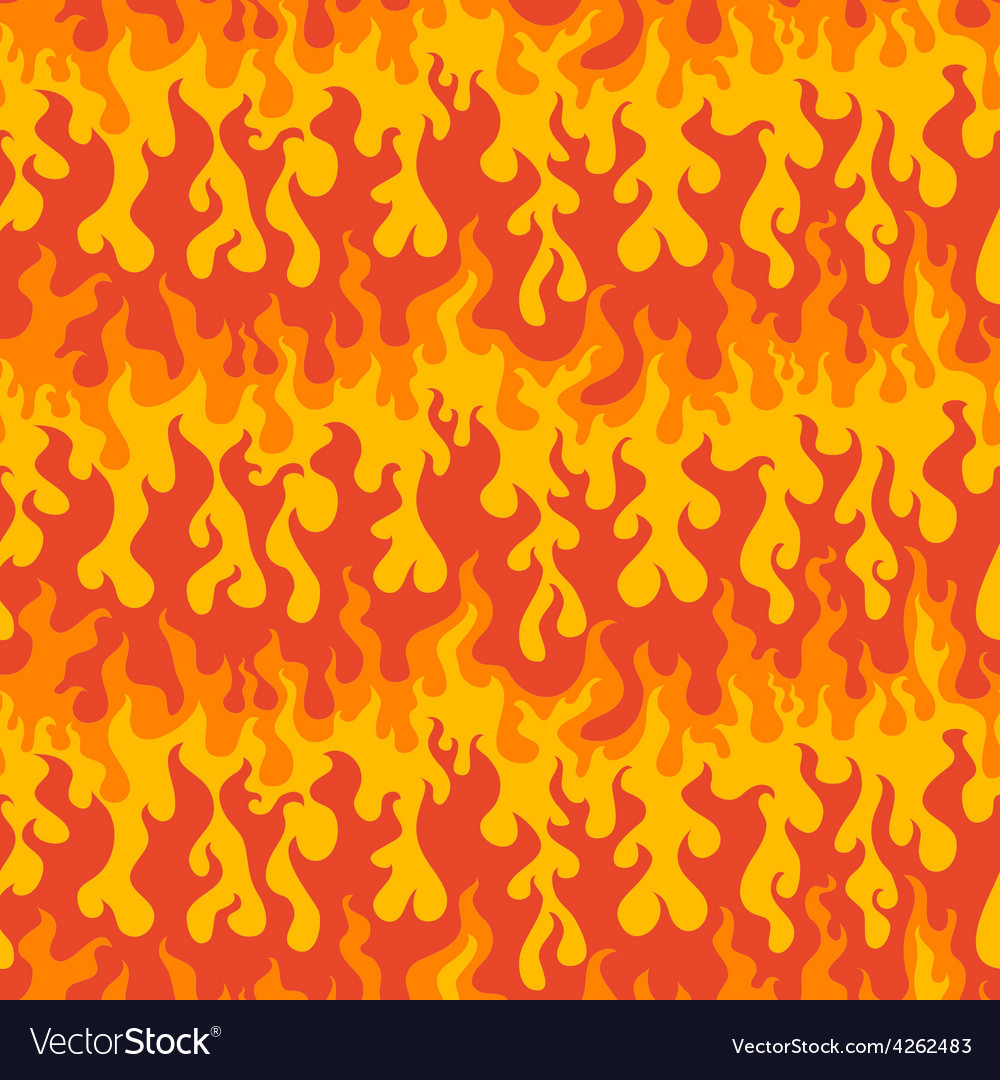 Abstract fire seamless pattern vector | Price: 1 Credit (USD $1)