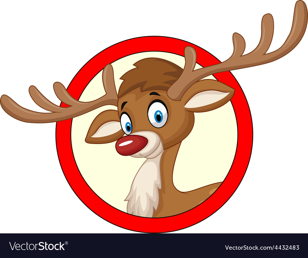 Deer cartoon vector | Price: 3 Credit (USD $3)