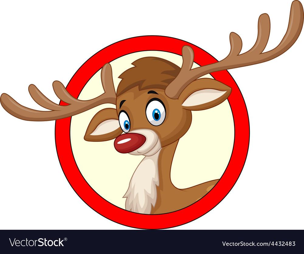 Deer cartoon vector | Price: 3 Credit (USD $3)