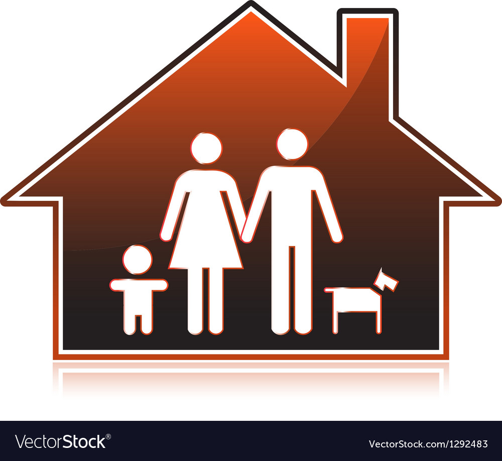 Family houses vector | Price: 1 Credit (USD $1)