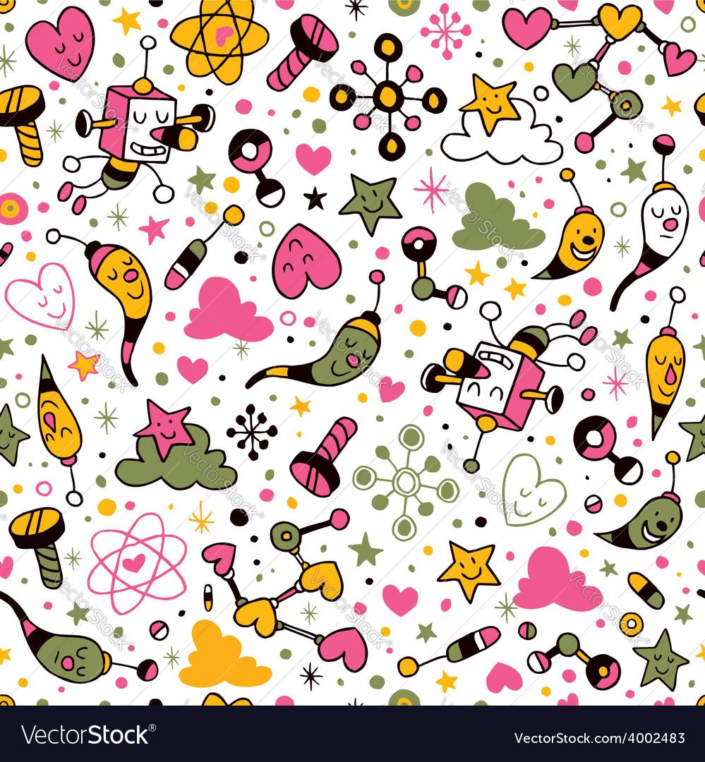 Fun cartoon pattern 9 vector   Price: 1 Credit (USD $1)