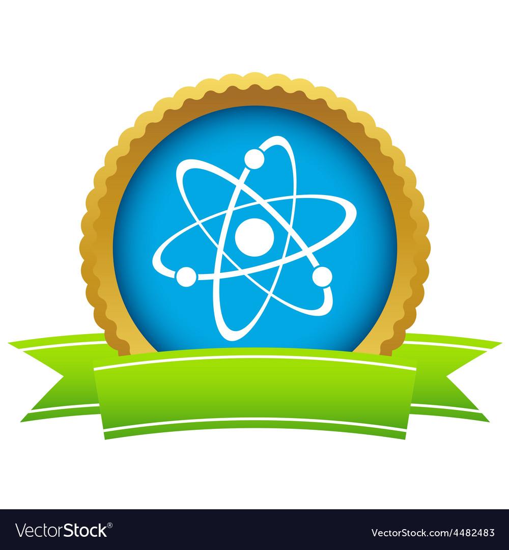 Gold atom logo vector | Price: 1 Credit (USD $1)