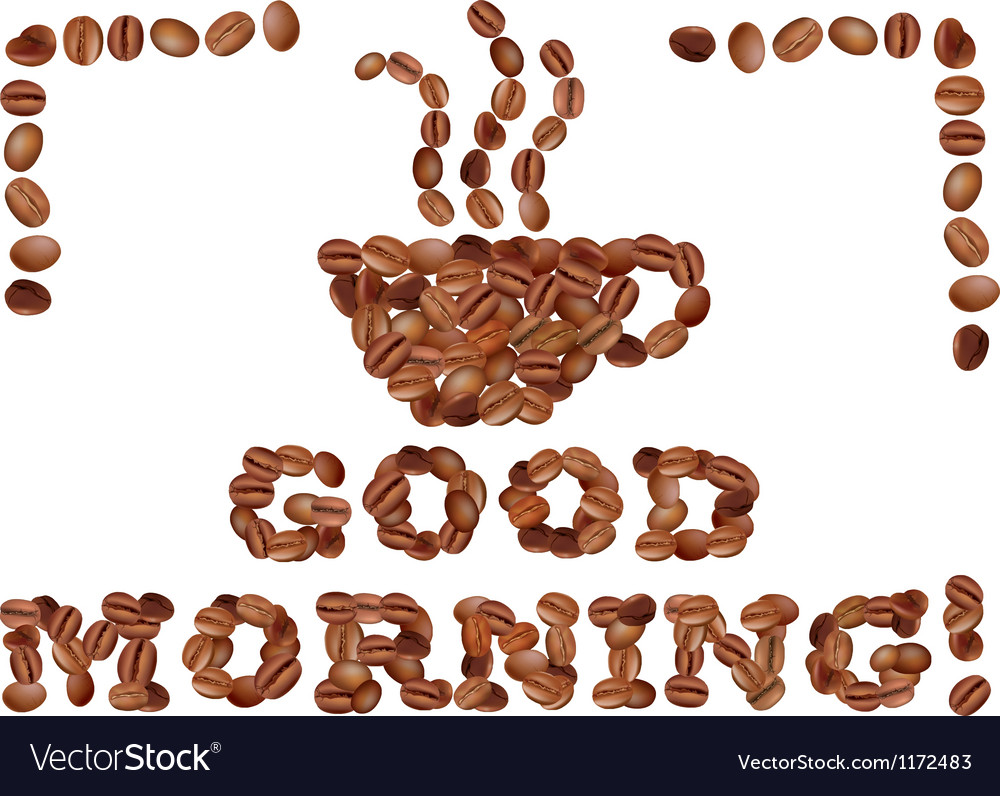 Good morning with coffee vector | Price: 1 Credit (USD $1)