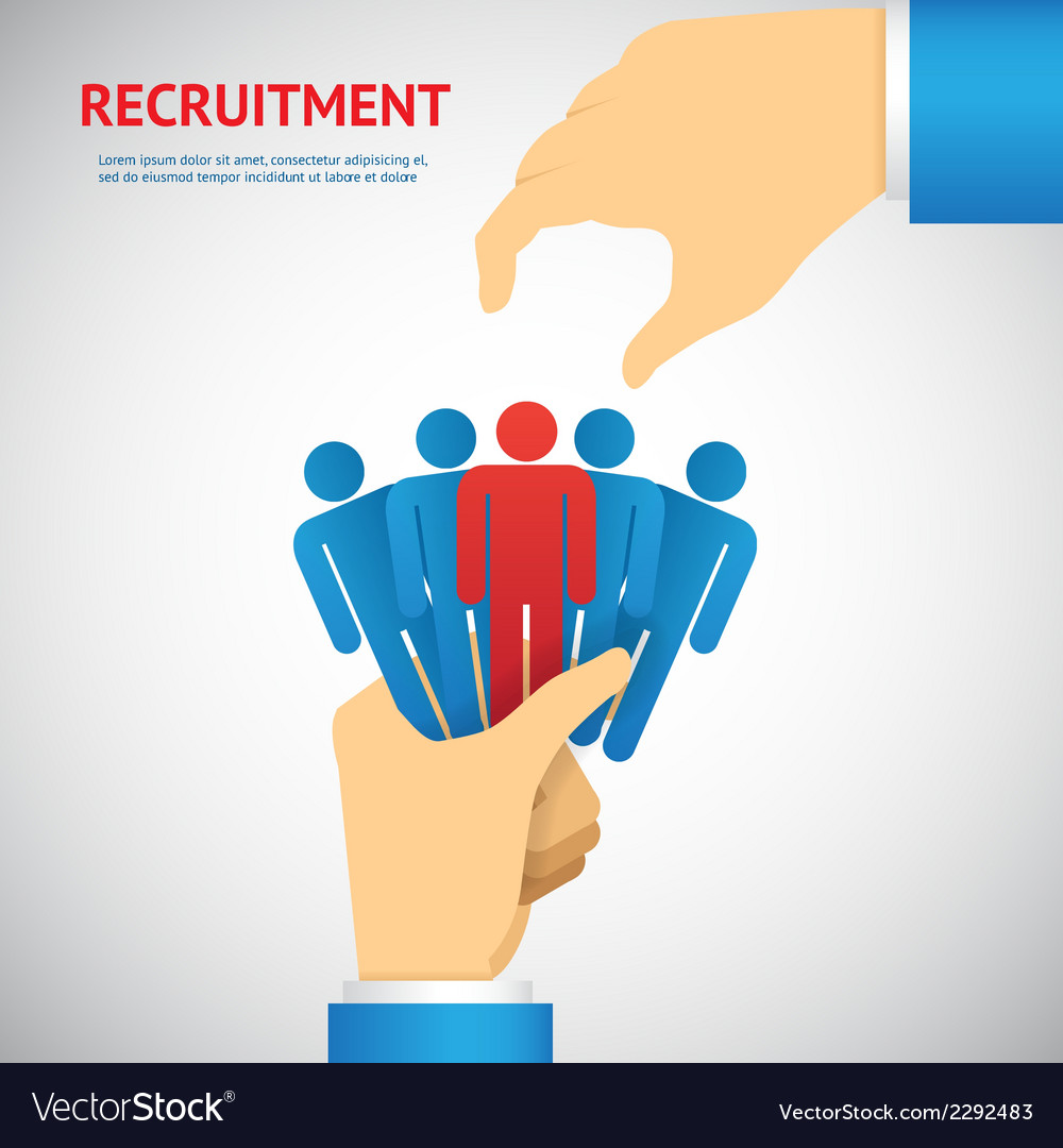 Human resource and recruitment vector | Price: 1 Credit (USD $1)