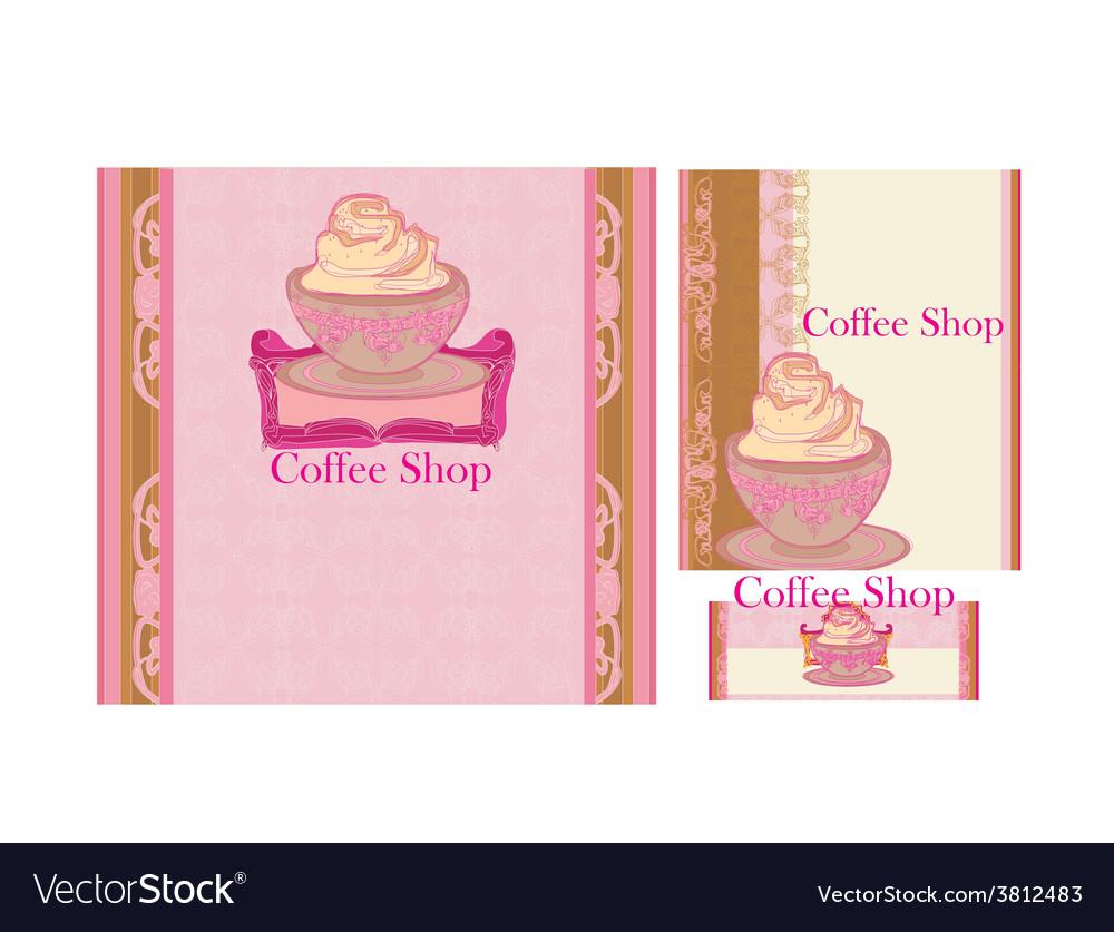 Menu coffee shop and restaurant set vector | Price: 1 Credit (USD $1)