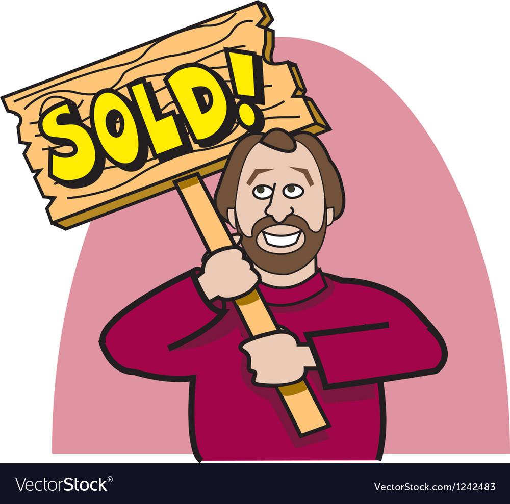 Realtor sold vector   Price: 1 Credit (USD $1)