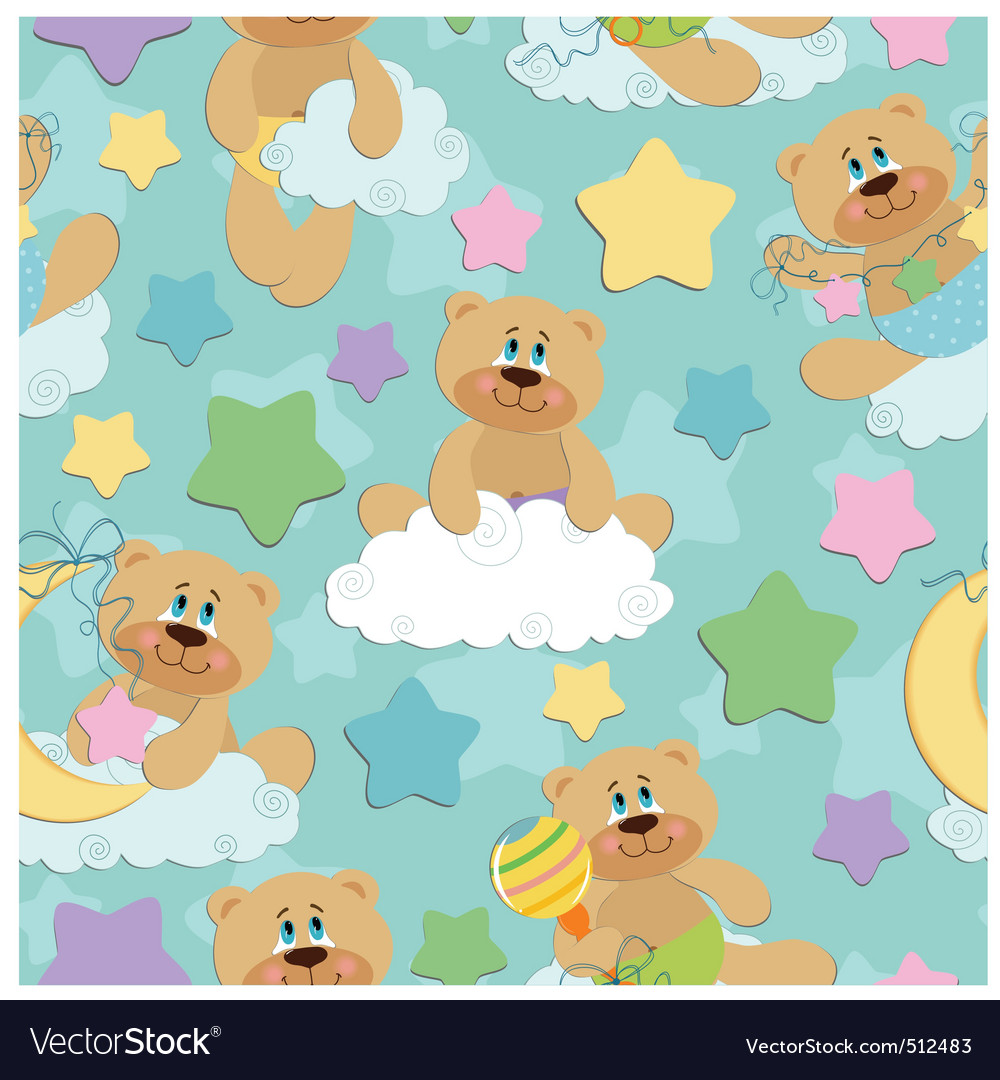 Seamless background for babies vector | Price: 1 Credit (USD $1)