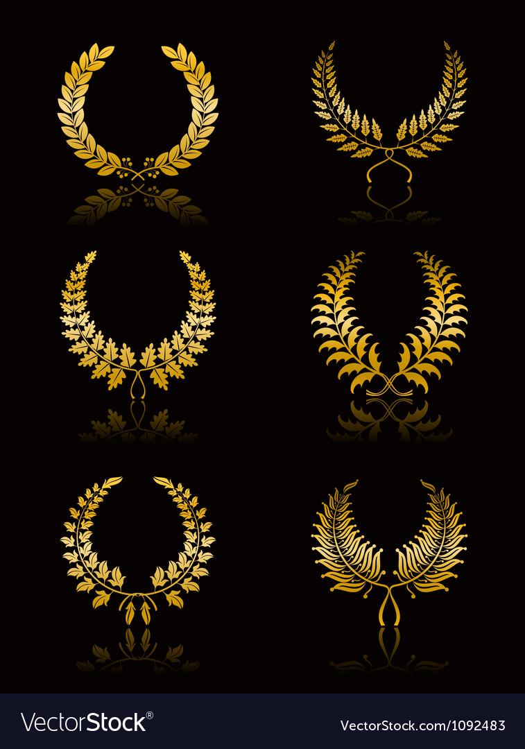 Set of wreath vector | Price: 1 Credit (USD $1)