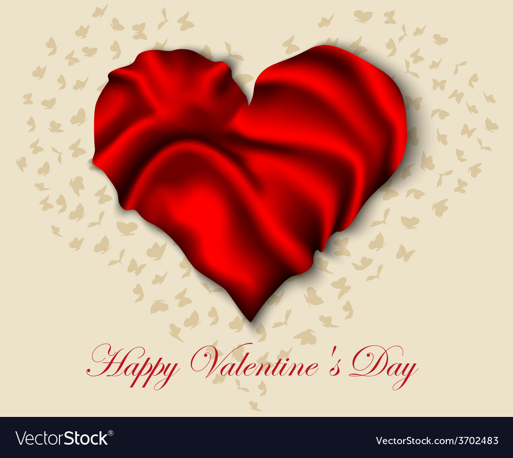 Silk heart on valentine day vector | Price: 1 Credit (USD $1)