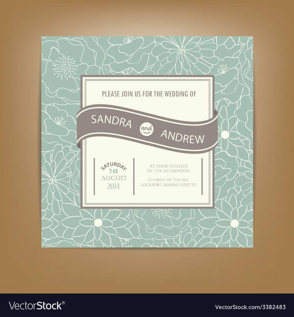 Wedding card green vector | Price: 1 Credit (USD $1)