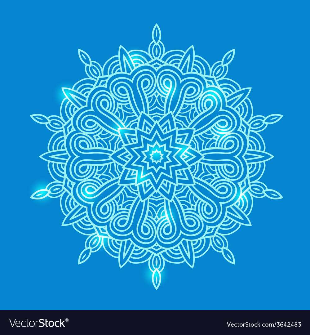 Winter celtic knot pattern card mandala amulet vector | Price: 1 Credit (USD $1)
