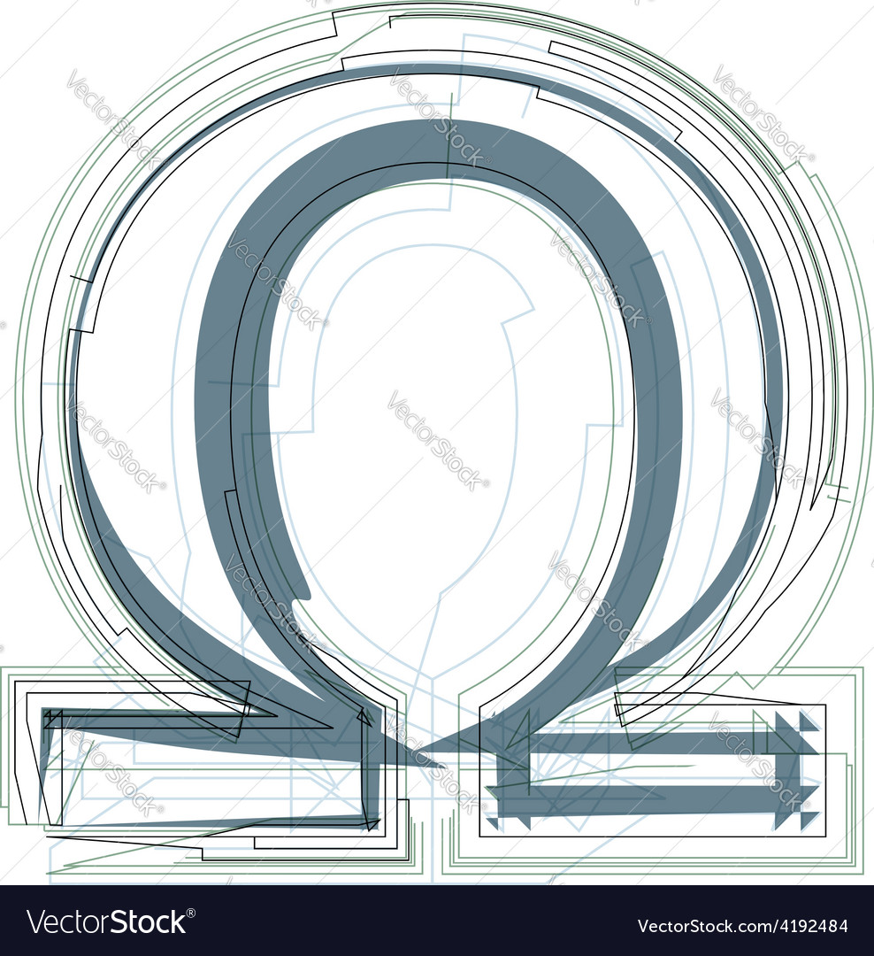Abstract omega sign vector | Price: 1 Credit (USD $1)