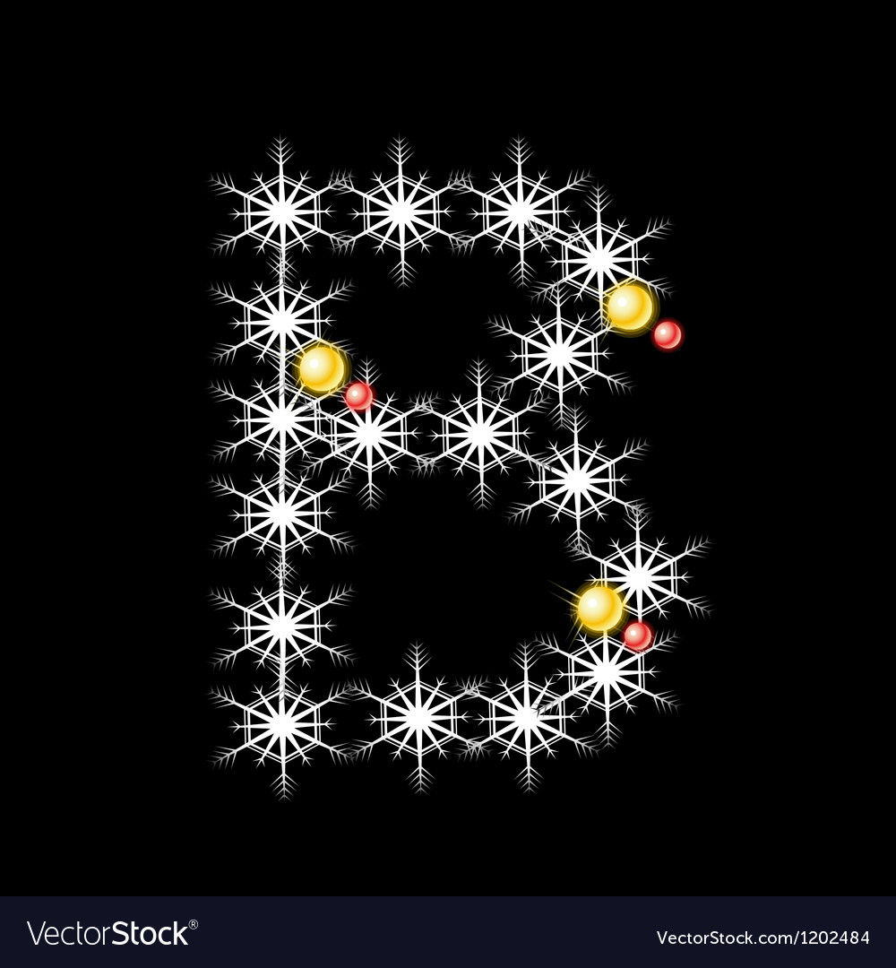 Abstract star b alphabet character vector   Price: 1 Credit (USD $1)
