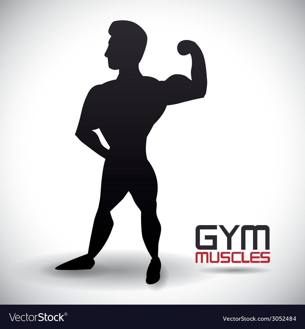 Bodybuilding design vector | Price: 1 Credit (USD $1)