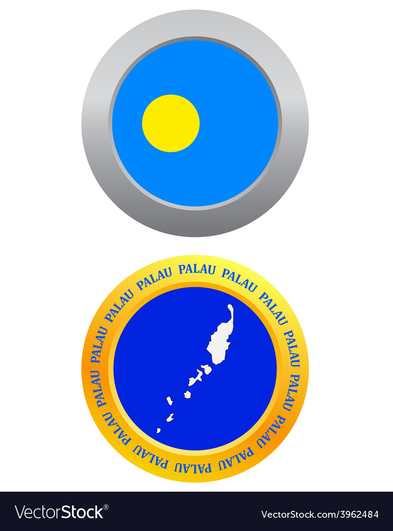 Button as a symbol palau vector | Price: 1 Credit (USD $1)