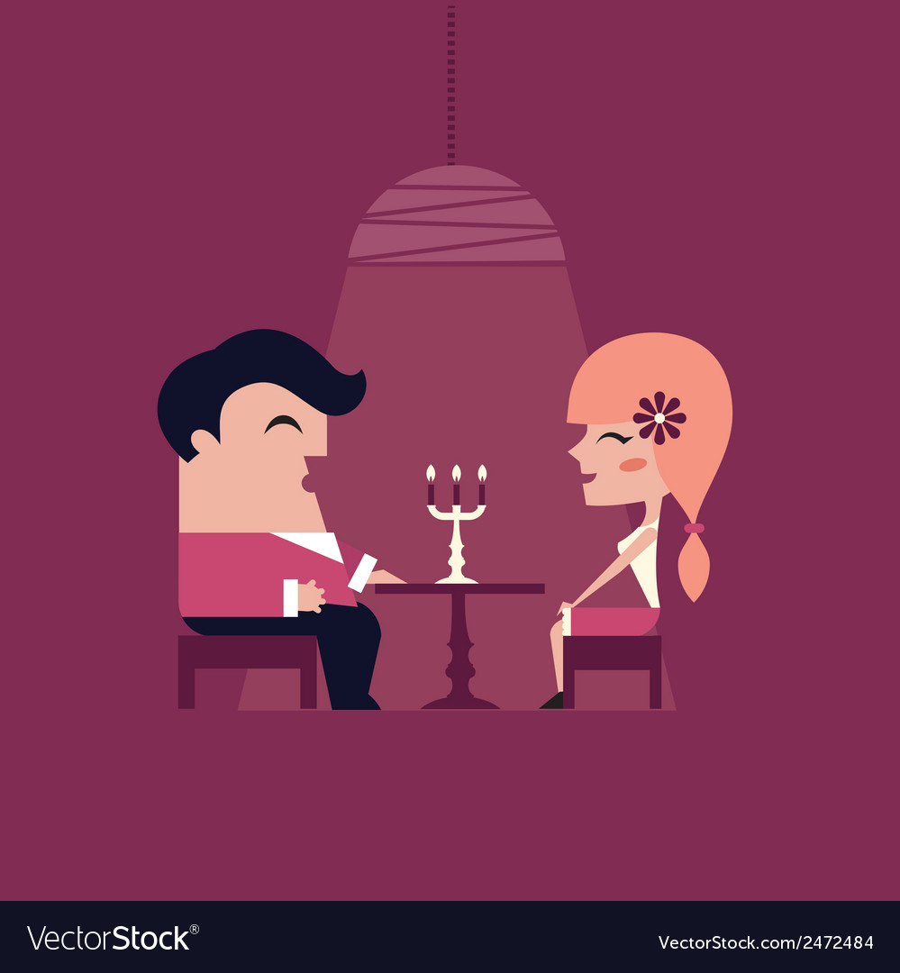 Date dinner vector | Price: 1 Credit (USD $1)