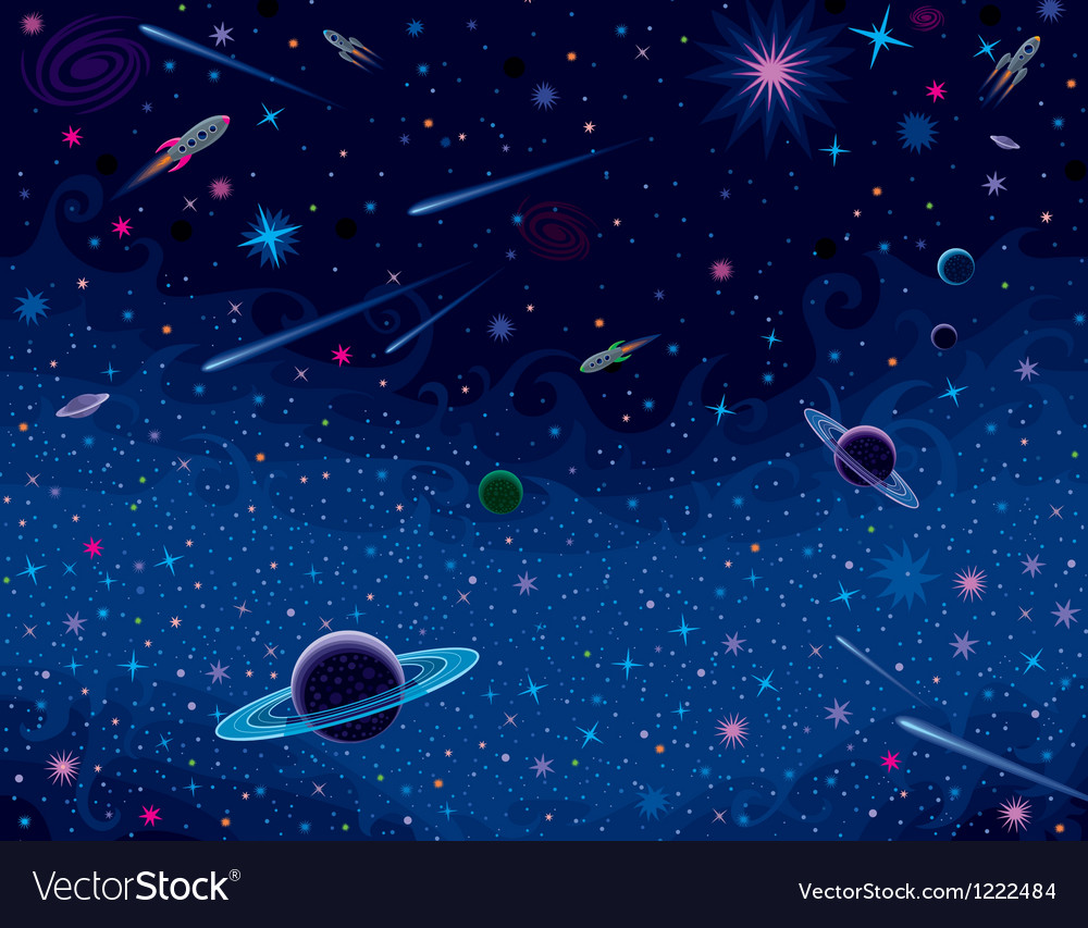 Horisontal cosmic background vector | Price: 1 Credit (USD $1)