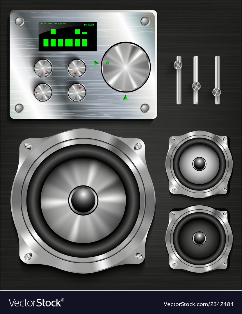 Management console speaker system vector | Price: 1 Credit (USD $1)