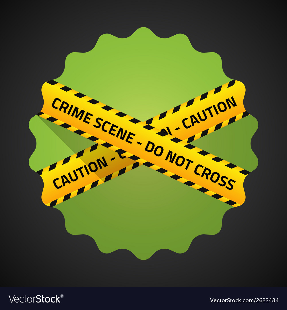Police barricade tape flat icon background vector | Price: 1 Credit (USD $1)