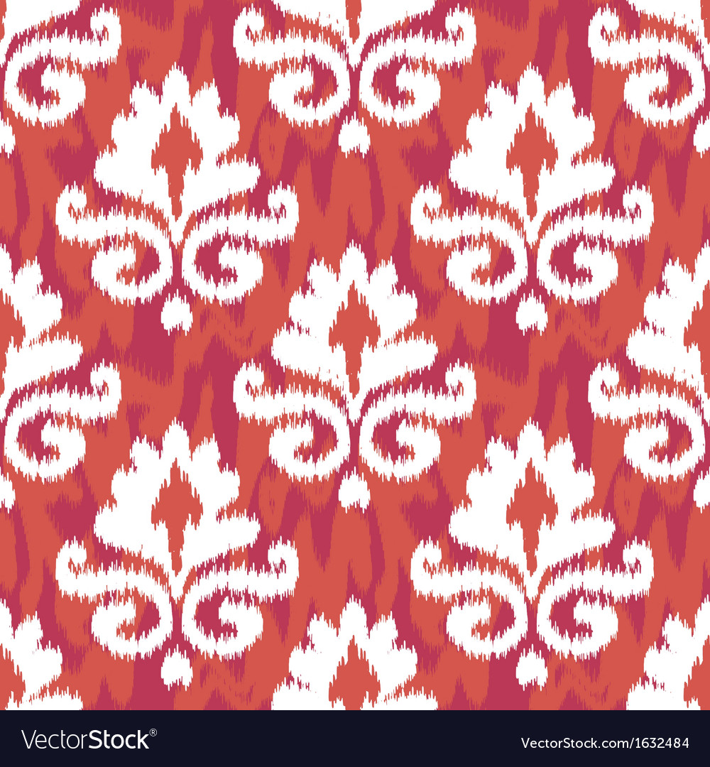 Red damask ikat vector | Price: 1 Credit (USD $1)
