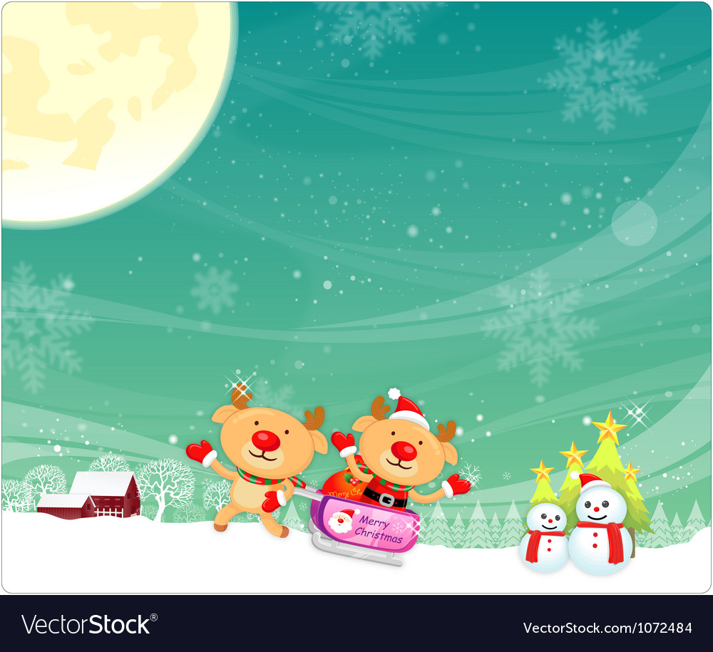 Rudolph a deer mascot using a variety of card desi vector | Price: 3 Credit (USD $3)