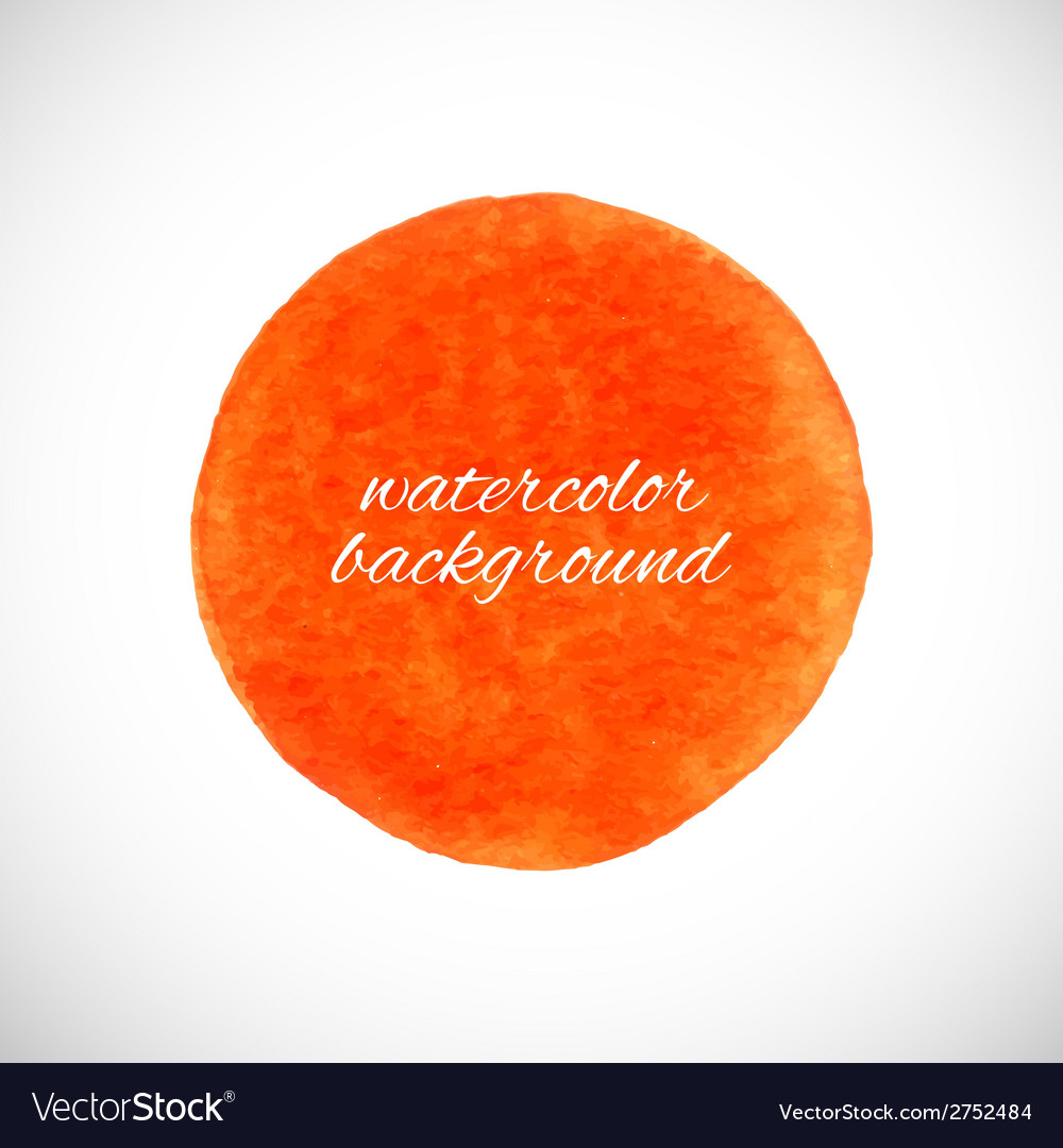 Watercolor circle element vector | Price: 1 Credit (USD $1)