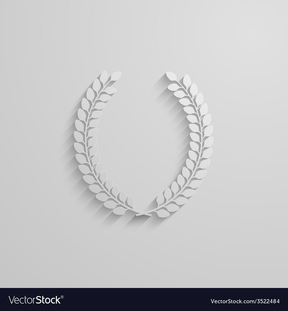 With laurel wreath 3d paper design with long vector | Price: 1 Credit (USD $1)