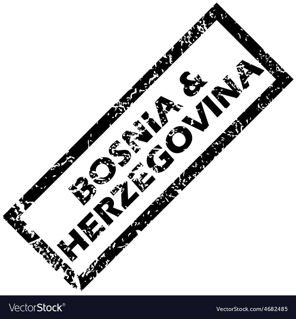 Bosnia and herzegovina rubber stamp vector | Price: 1 Credit (USD $1)