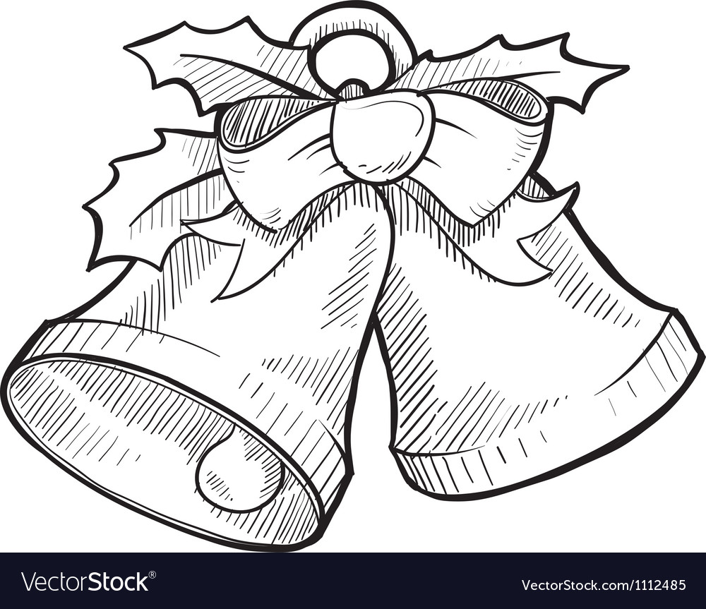 Doodle christmas bells vector | Price: 1 Credit (USD $1)