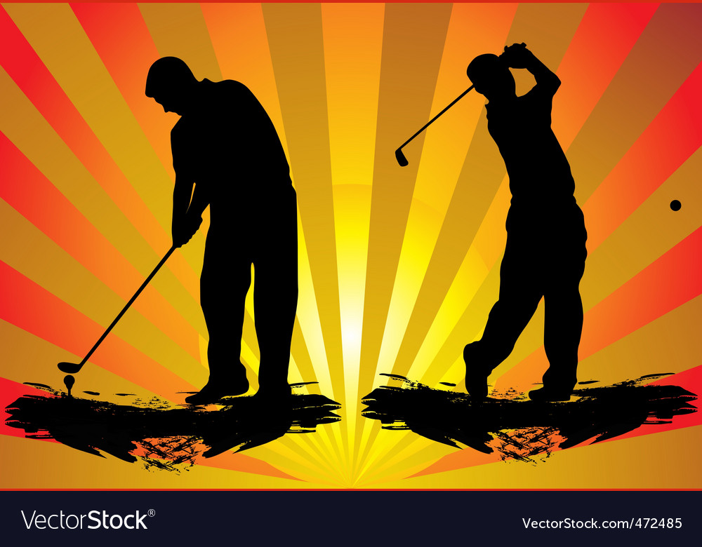 Golf silhouette vector | Price: 1 Credit (USD $1)