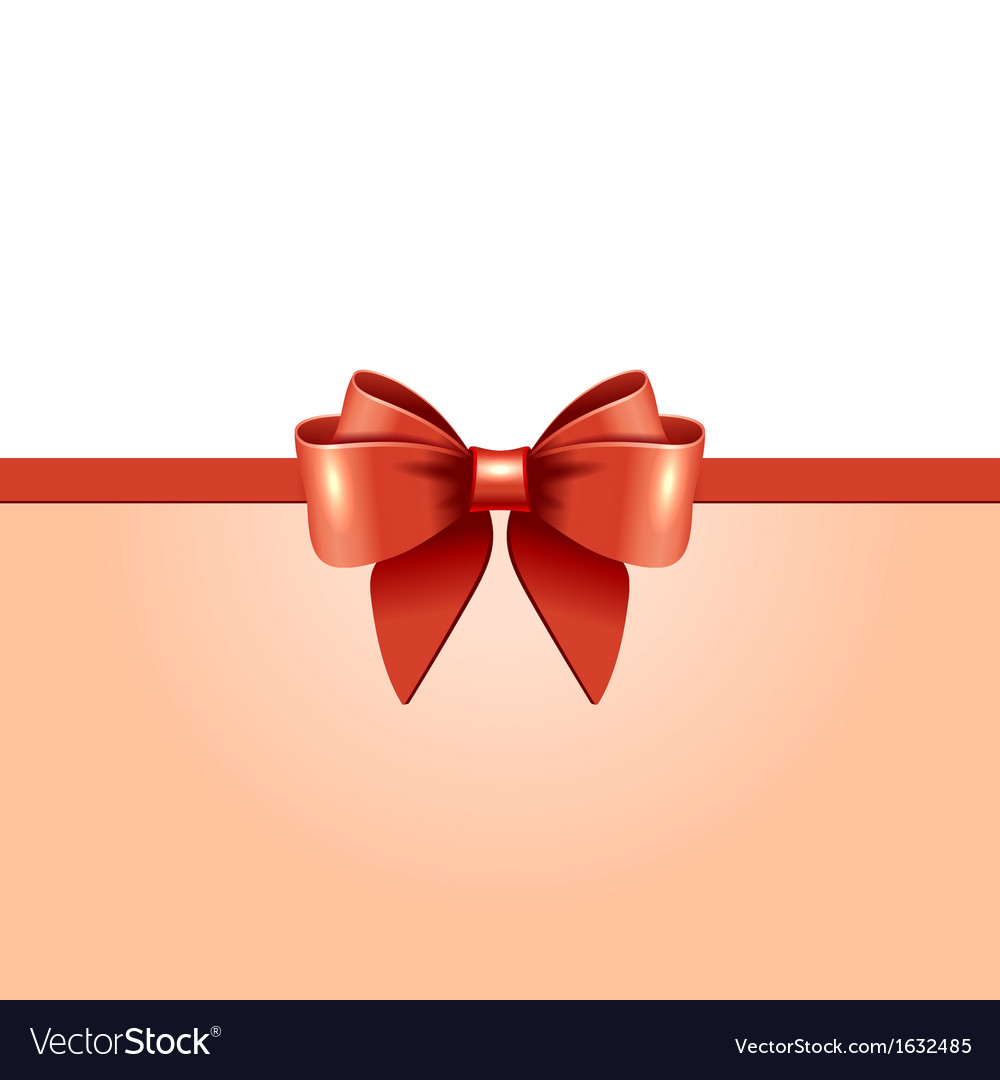Greeting card with red bow vector | Price: 1 Credit (USD $1)
