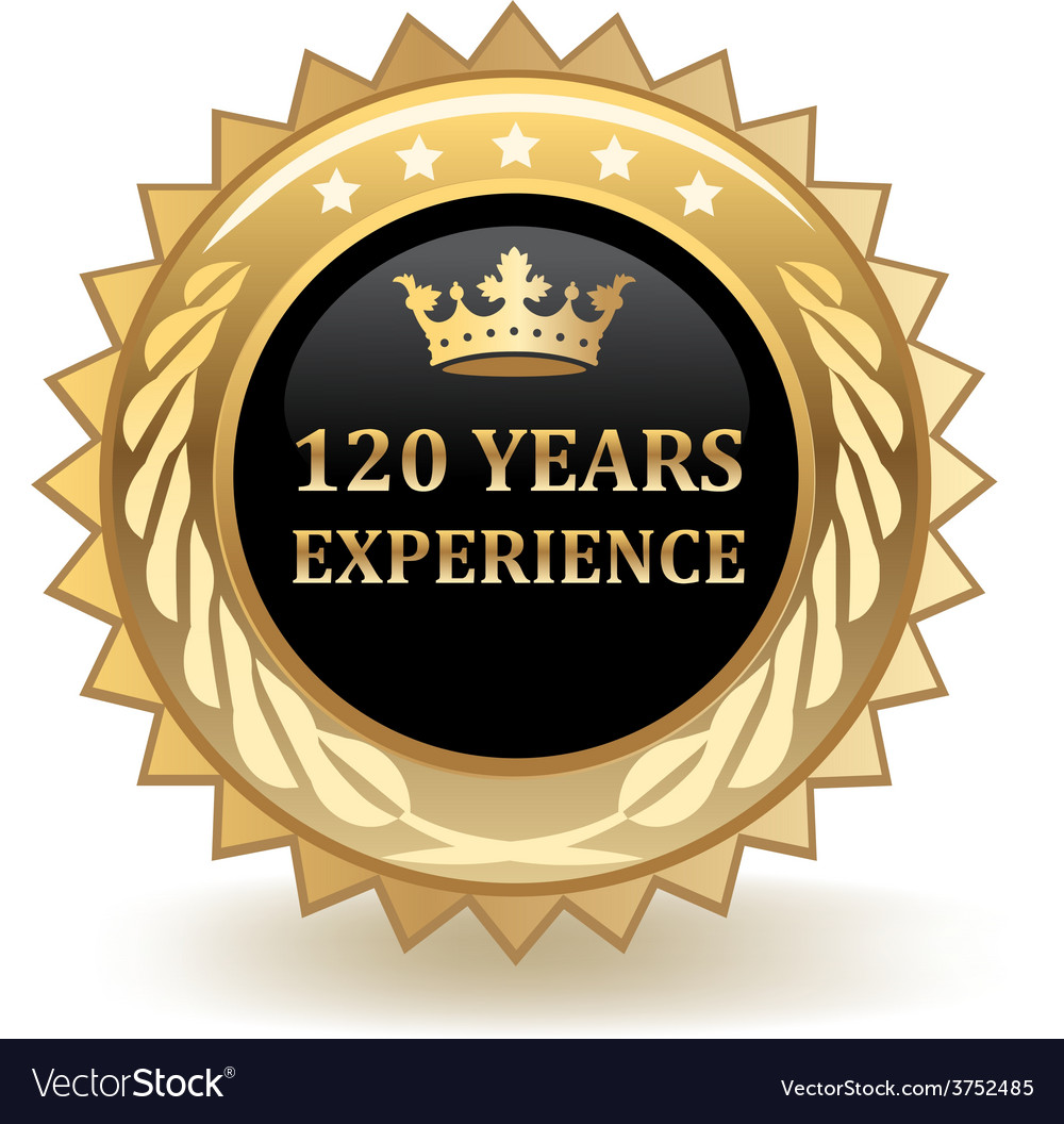 Hundred and twenty years experience badge vector | Price: 1 Credit (USD $1)