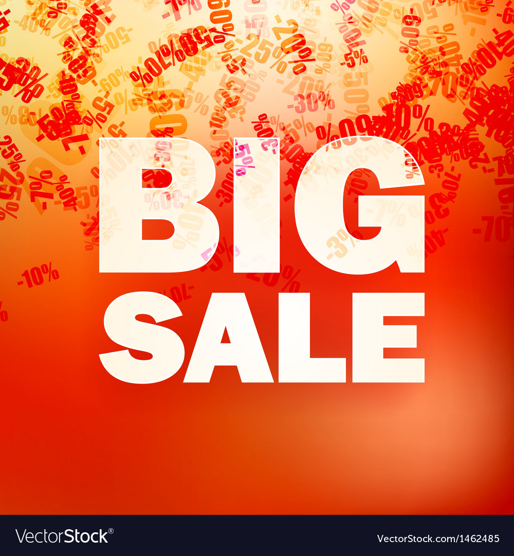 Sale message witn percent vector   Price: 1 Credit (USD $1)