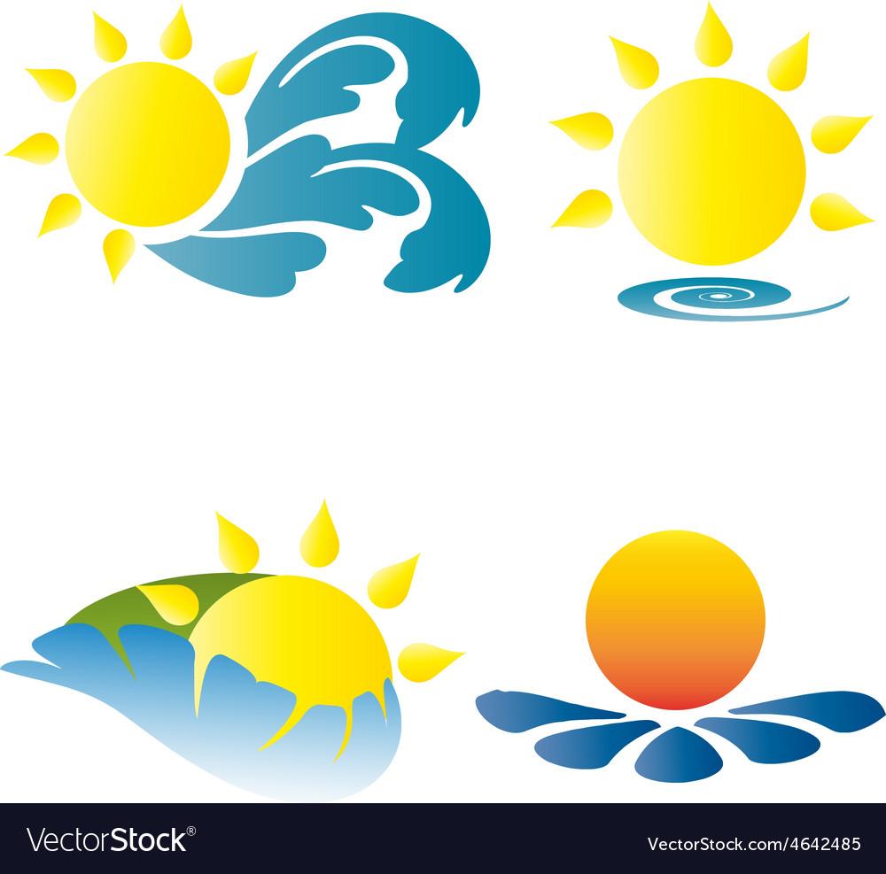 Summer logo logos icons holidays vacation sun vector | Price: 1 Credit (USD $1)