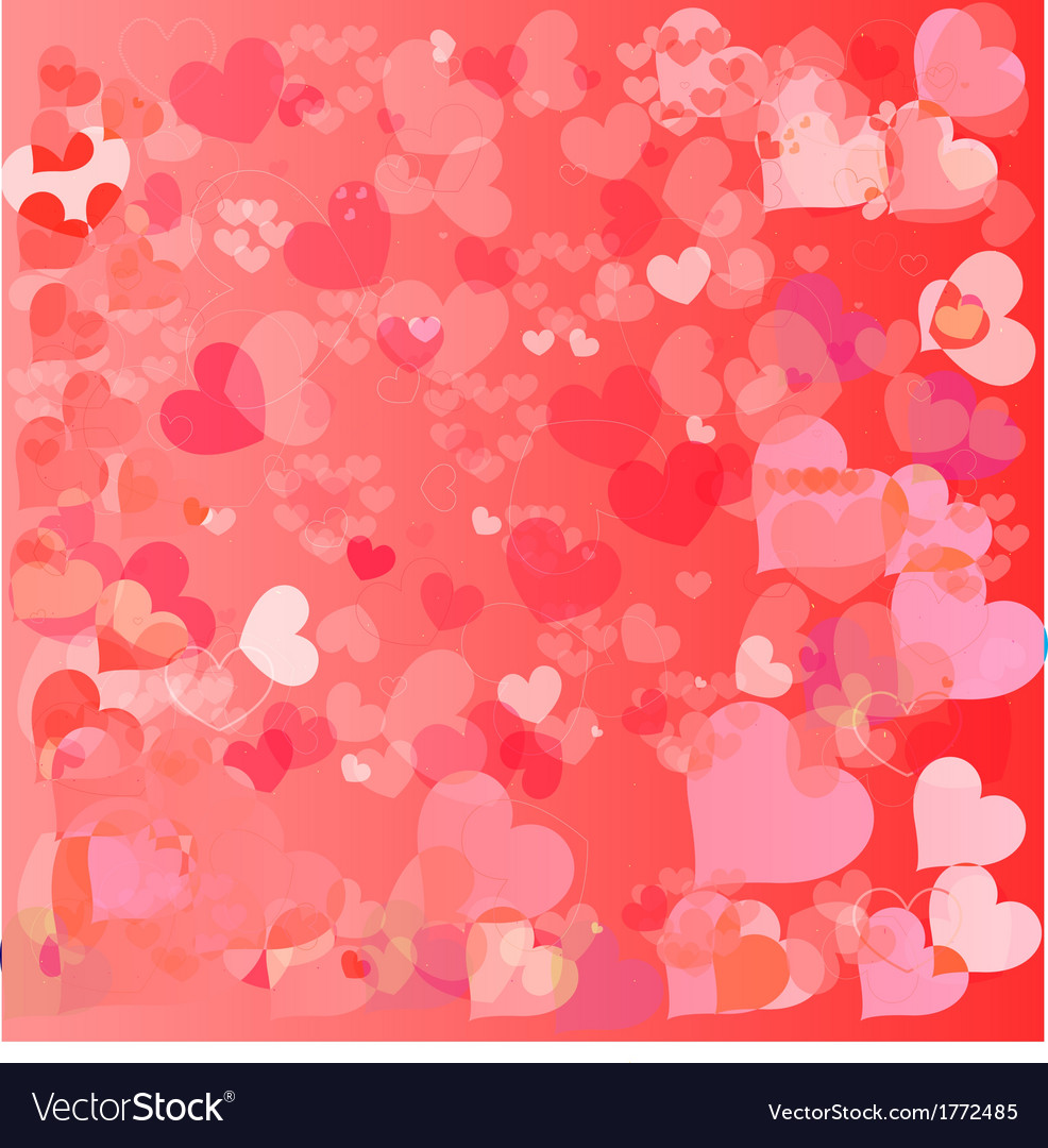 Valentines day paper heart card vector | Price: 1 Credit (USD $1)