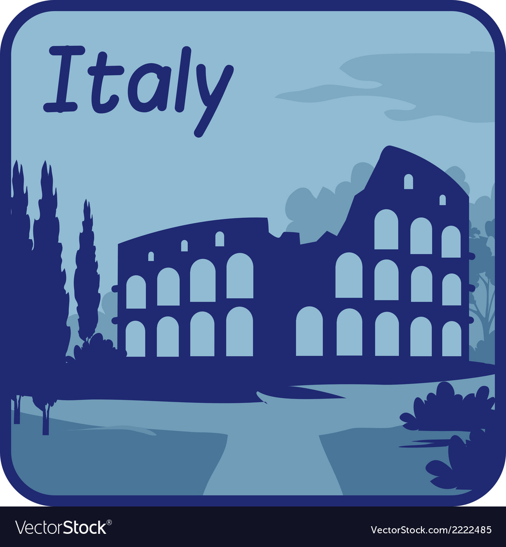 With colosseum in rome vector | Price: 1 Credit (USD $1)