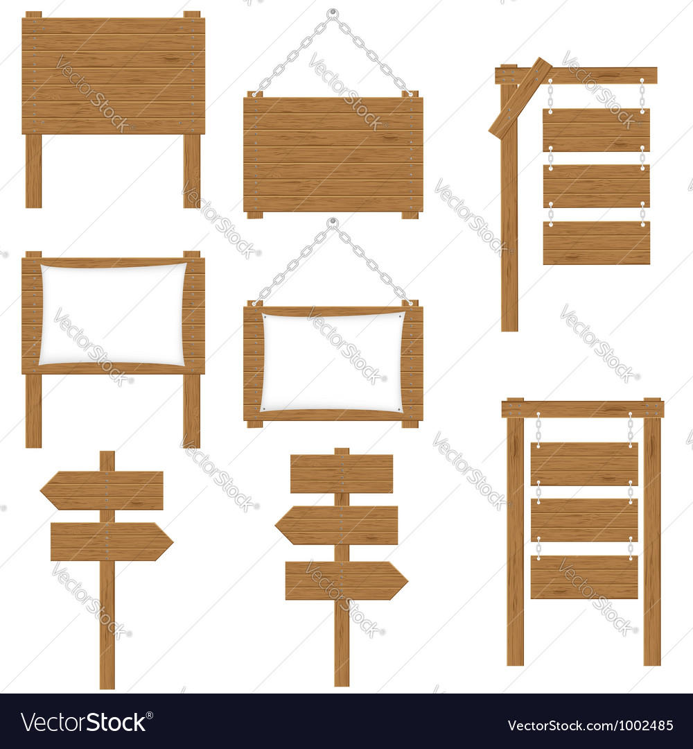 Wooden board 05 vector