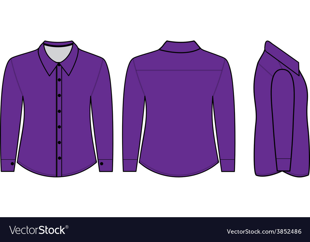 Blank shirt with long sleeves template for men vector | Price: 1 Credit (USD $1)